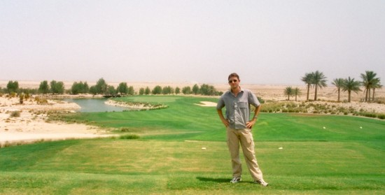 At Doha Golf Club.