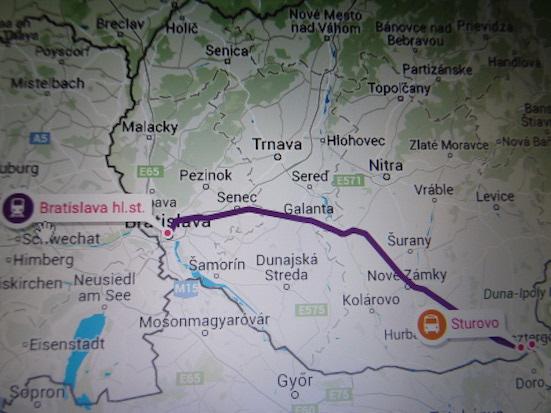 1 Bratislava to Sturovo
