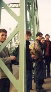 5 Crossing the bridge from Slovakia into Hungary.