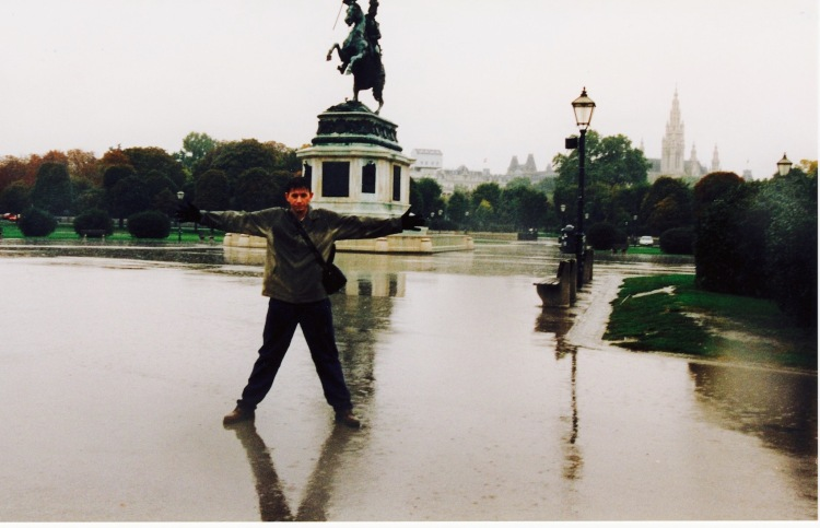 Heidenplatz Vienna rainy day