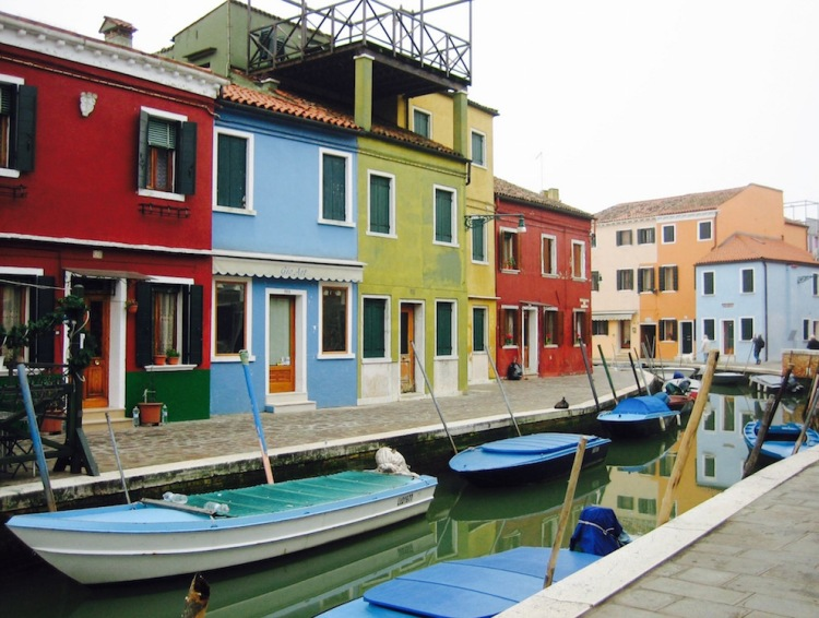 Colorful houses Burano Island Italy
