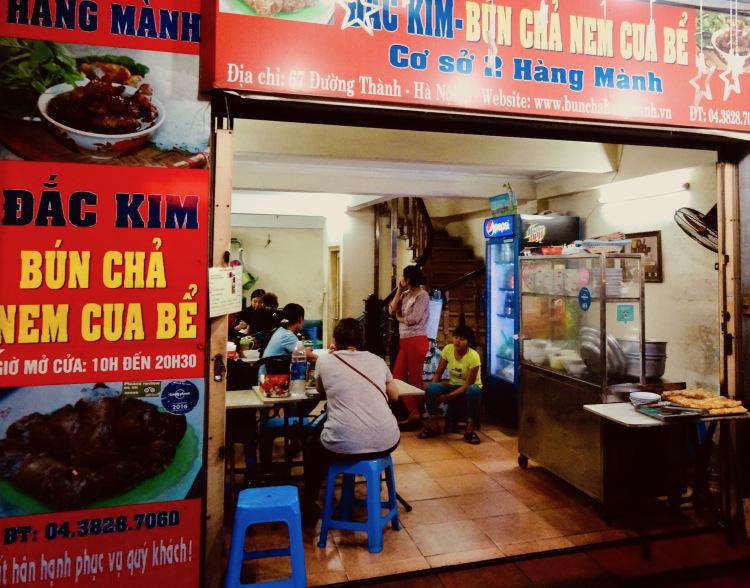 Bun Cha Nem Cua Be Dac Kim Hanoi Vietnam