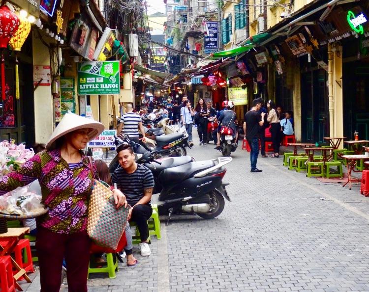 Ta Hien restaurant bar street Hanoi, Vietnam.
