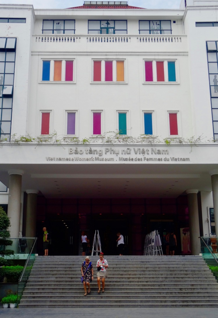 Entrance Vietnamese women's museum Hanoi