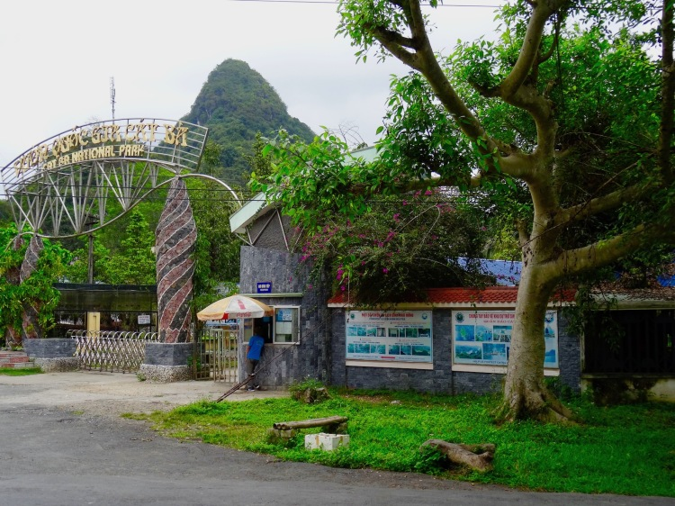 At the entrance to Cat Ba National Park.