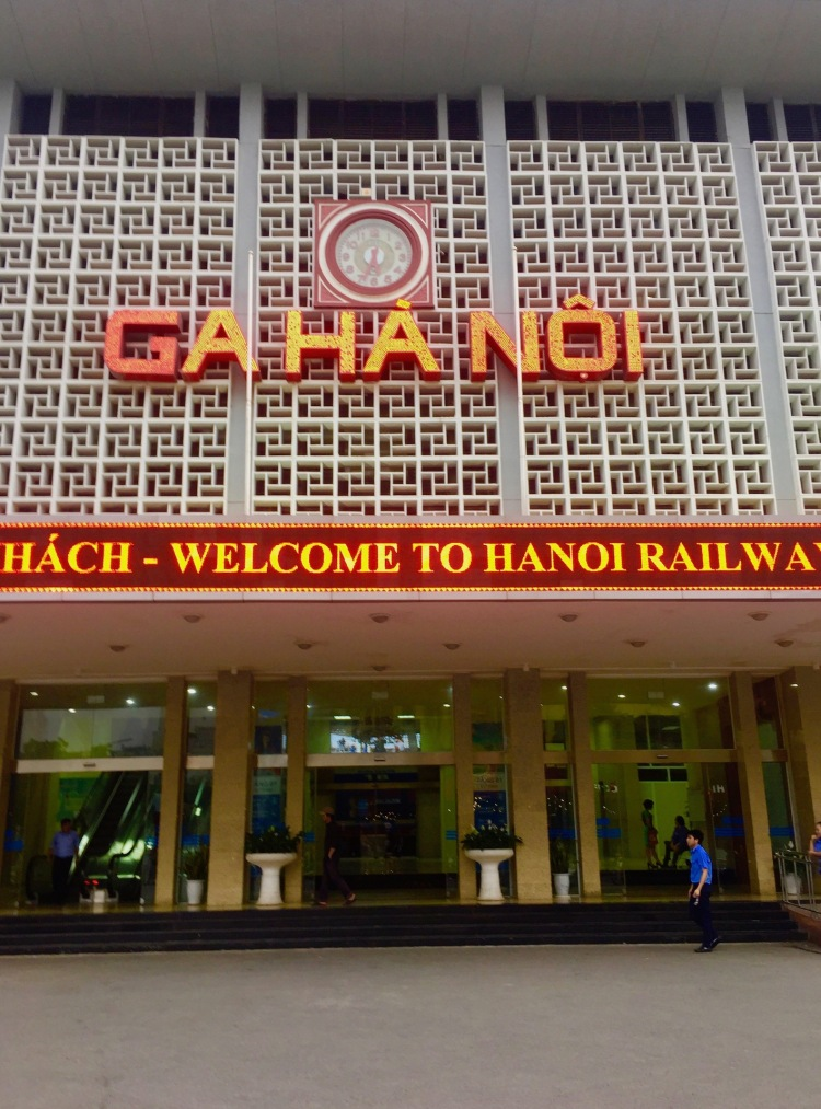 Entrance Hanoi Railway Station Vietnam