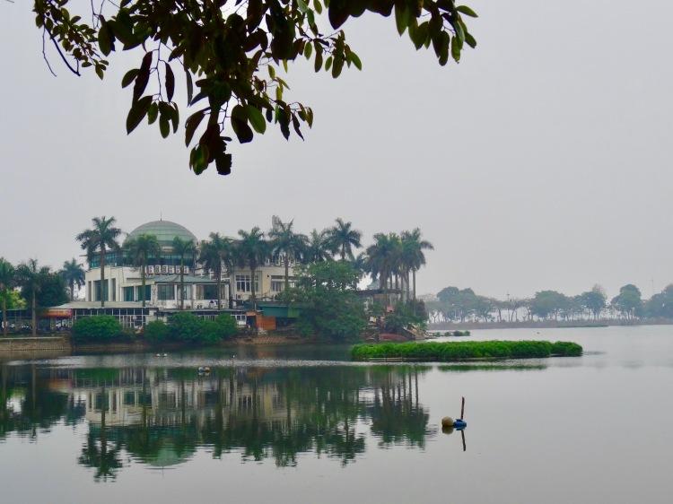 Misty Truc Bach Lake Hanoi