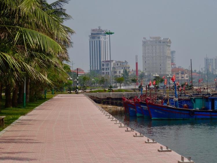 Nhat Le River promenade Dong Hoi