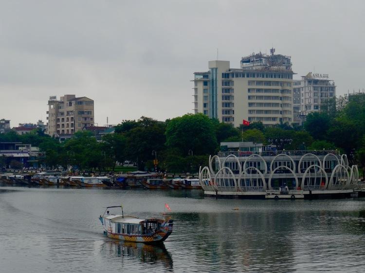 Boat crossing The Perfume River Hue Vietnam