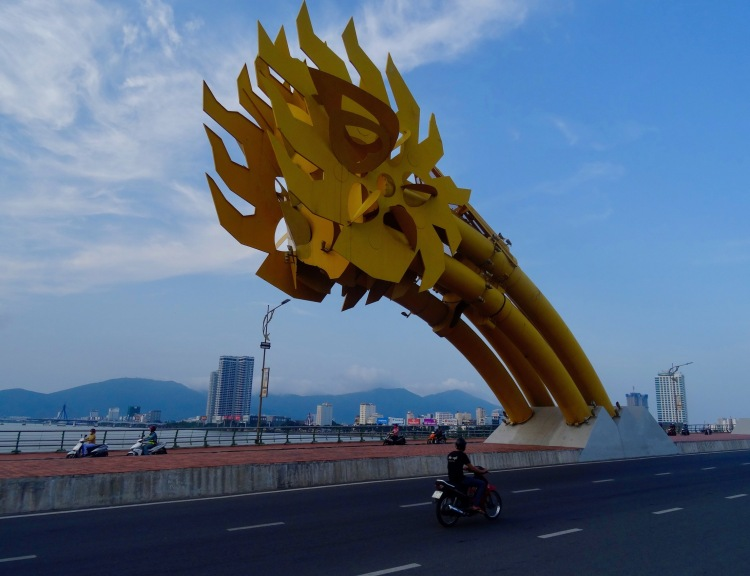 Dragon Bridge Danang tail end