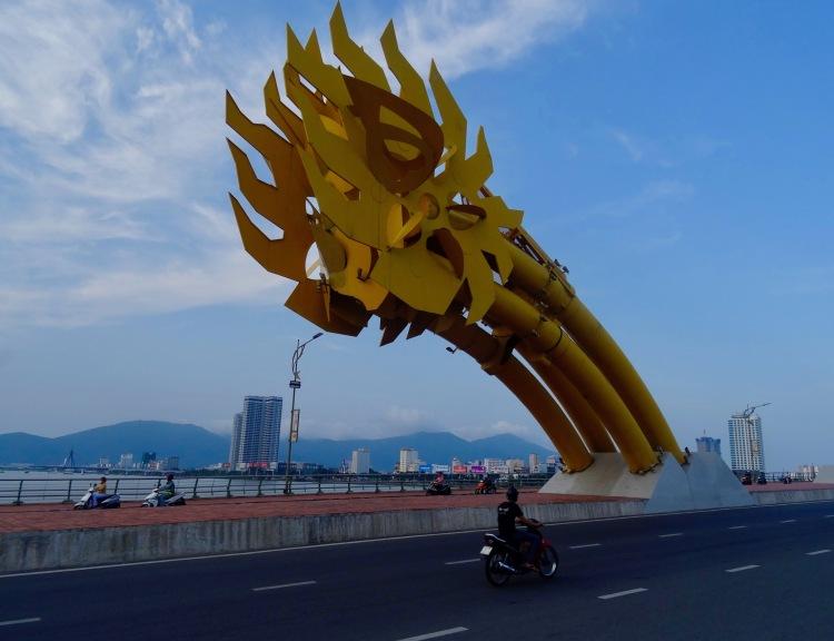 Dragon Bridge Danang tail end