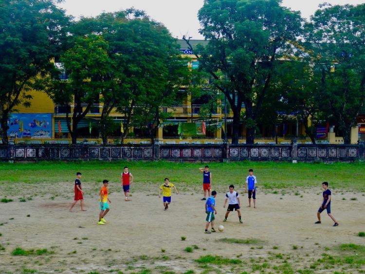 Football field The National School Truong Quoc Hoc Hue Vietnam