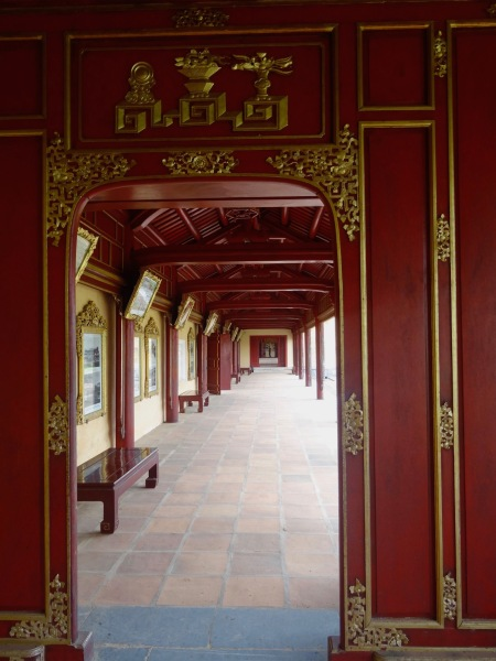 Hall of the Mandarins Imperial City Hue Vietnam