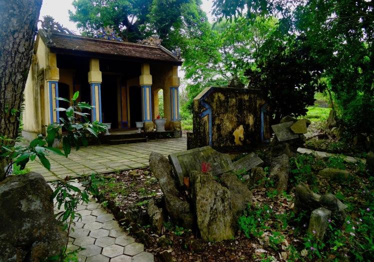 Peaceful garden Imperial City Hue Vietnam