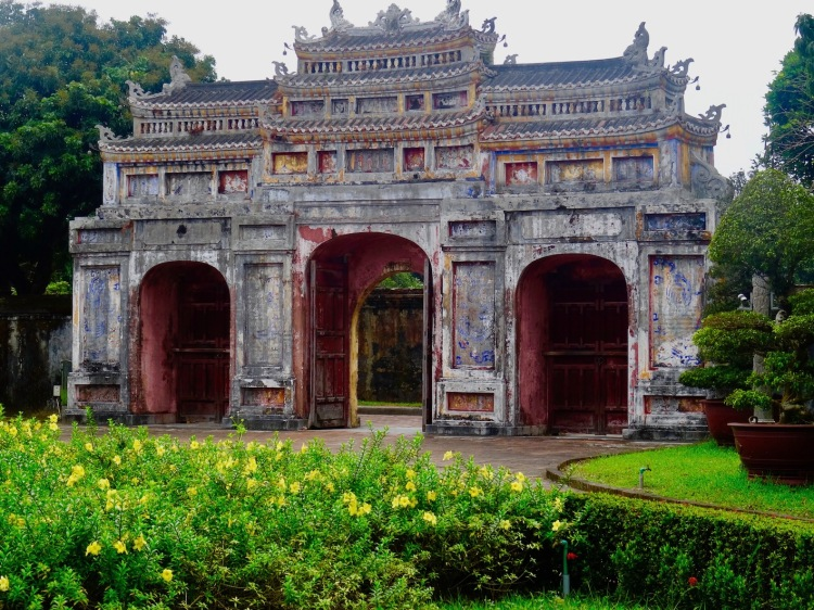 gate Imperial City Hue Vietnam