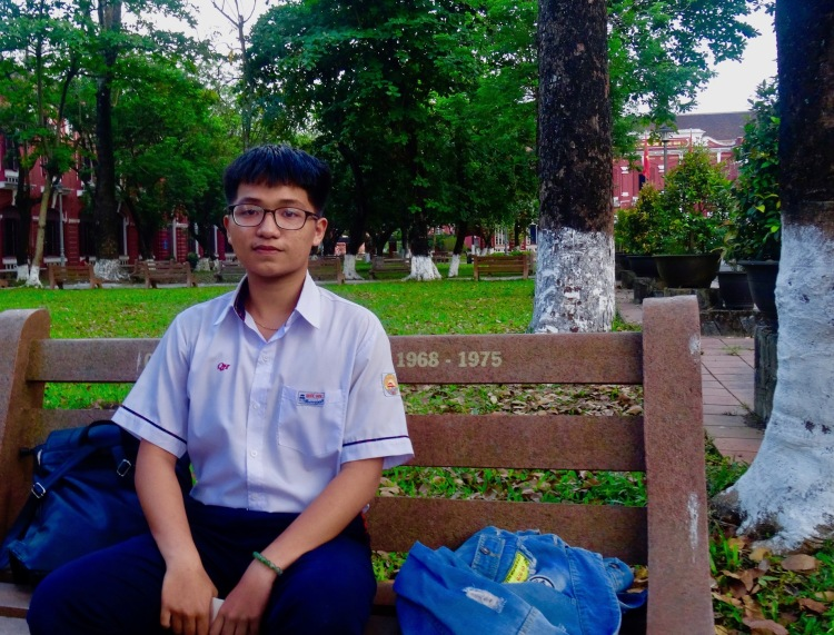 student The National School Truong Quoc Hoc Hue Vietnam