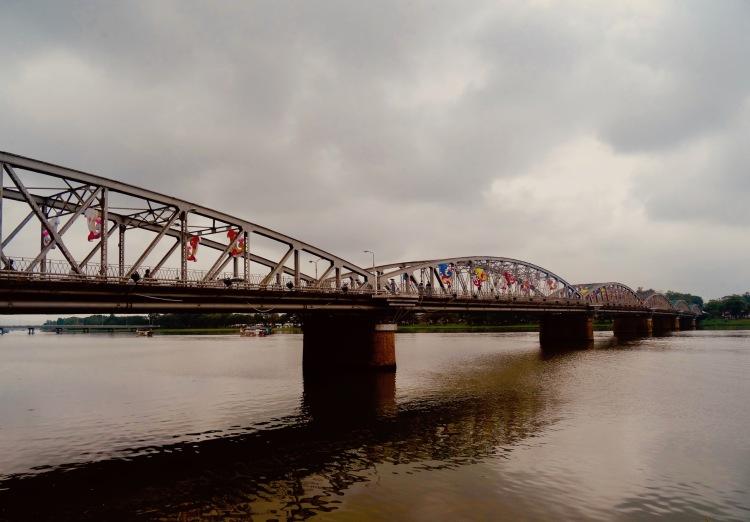 Truong Tien Bridge The Perfume River Hue Vietnam