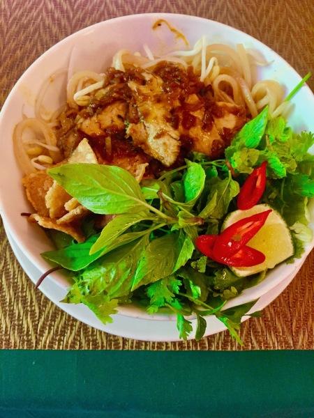 Cau Lau Pork Noodles The White Lotus Restaurant Hoi An Vietnam