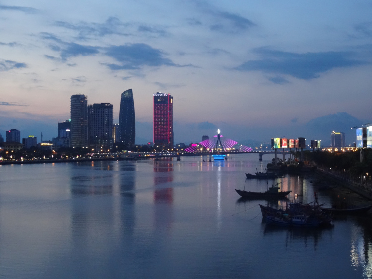 Danang skyline Han River Vietnam