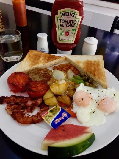 English breakfast The Happy Heart Cafe Vietnam