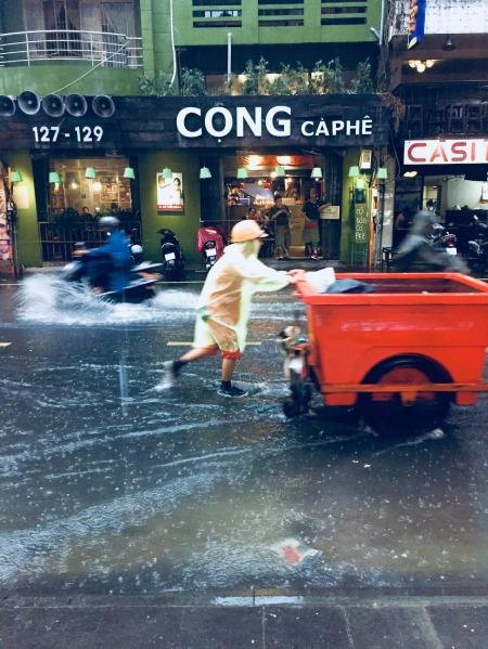 Flooded Bui Vien Street Ho Chi Minh Vietnam