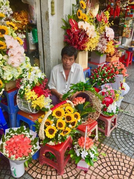 Florist Ben Thanh Market Ho Chi Minh Vietnam