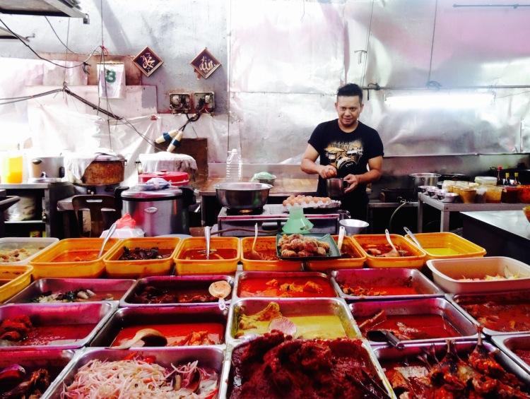 Food market Johor Bahru Malaysia