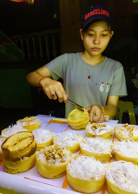 Grilled coconut cakes Hoi An Night Market Vietnam