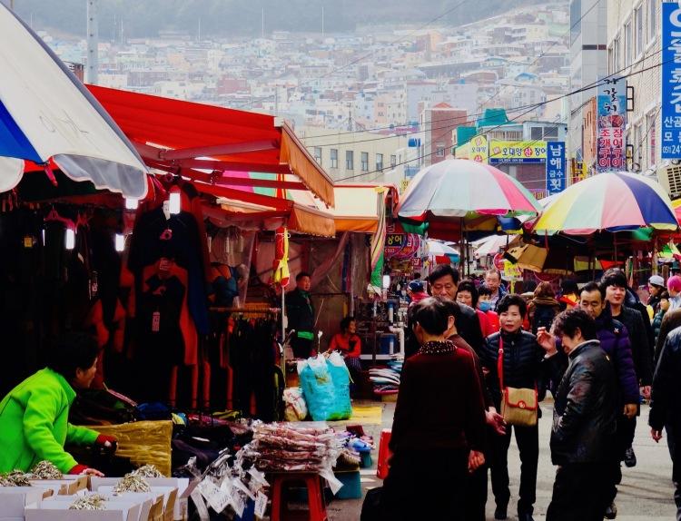 Jagalchi Fish Market Busan Korea