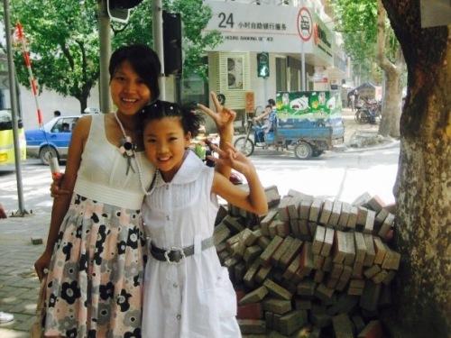 Mother and daughter Jinan Shandong province China