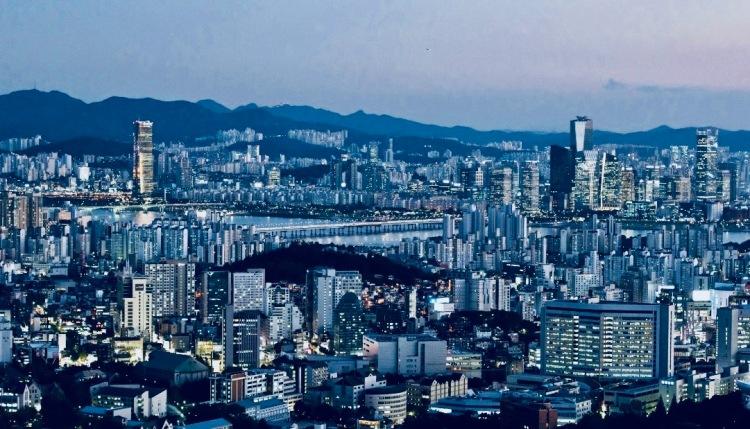 Nighttime Skyline Seoul Korea