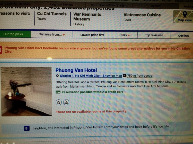 Phuong Van Hotel Closed down Ho Chi Minh Vietnam
