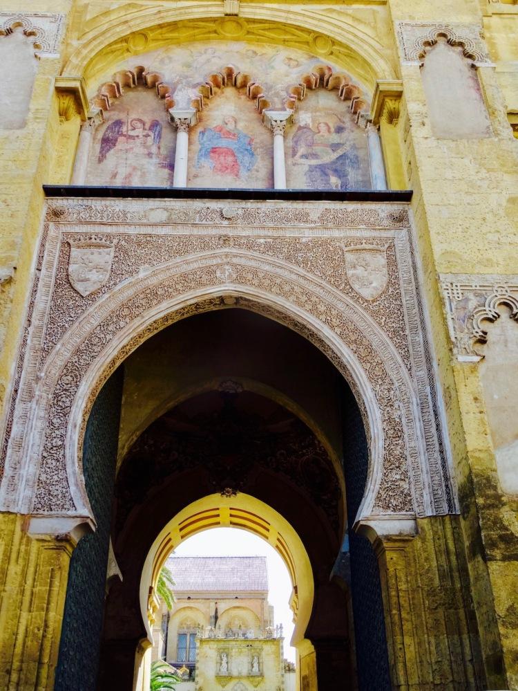 Puerta del Pedron entrance to The Mezquita Cordoba Spain