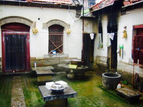 Restaurant courtyard Zhujiayu Village shandong province China