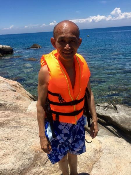 Rock climbing Bai Huong Cham Island Vietnam