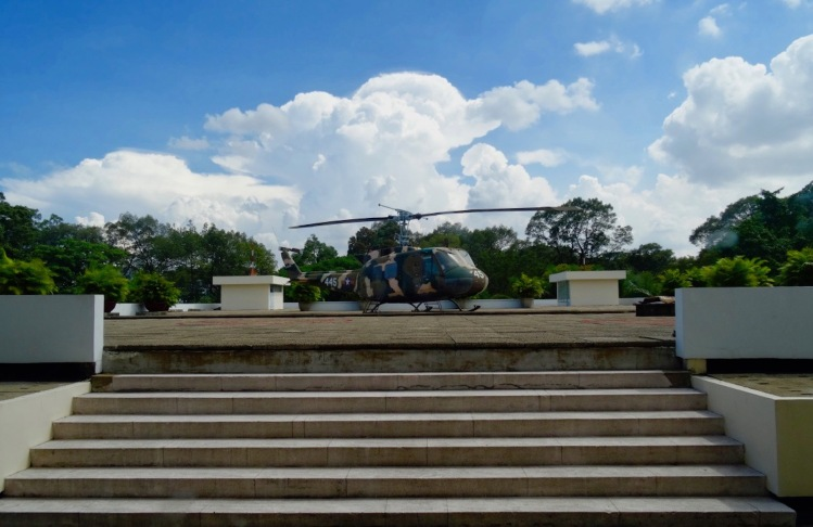 Rooftop Helicopter Reunification Palace Ho Chi Minh Vietnam