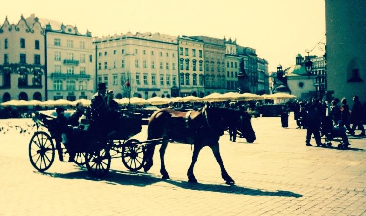 Rynek Glowny Square Krakow Poland