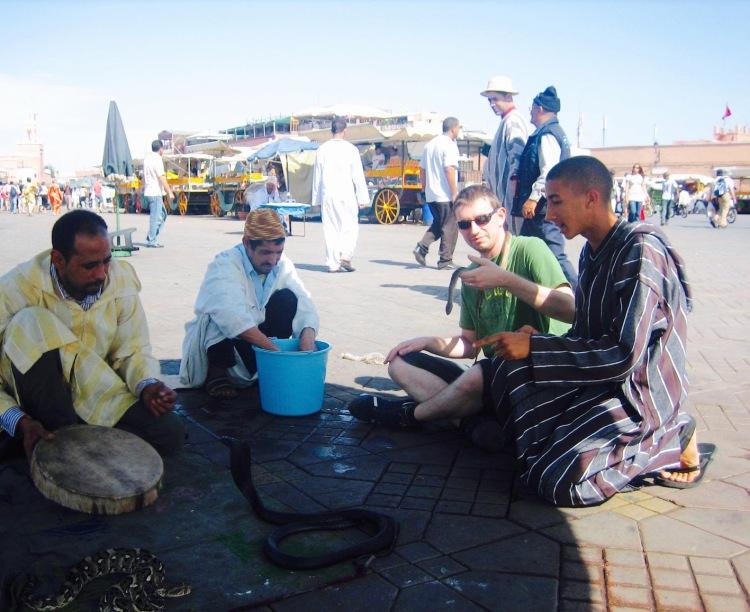 Snake charmers Jemaa el-Fnaa Marrkech Morocco