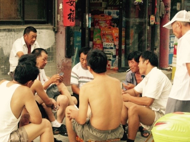Street card game Qufu Shandong province China