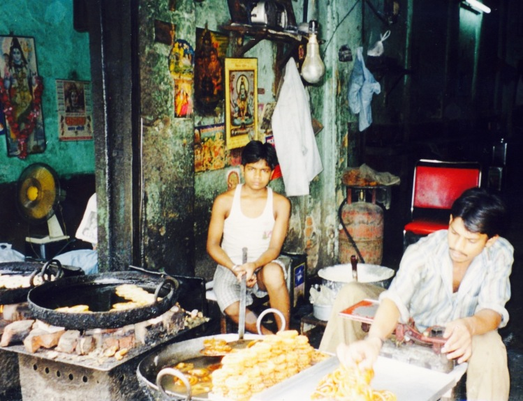 Street food vendors Paharganj Delhi India