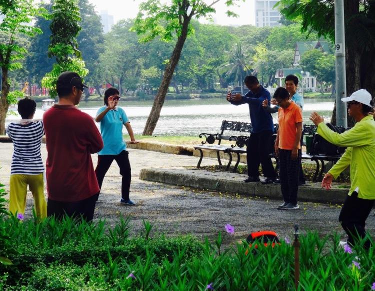 Tai Chi Lumpini Park Bangkok Thailand