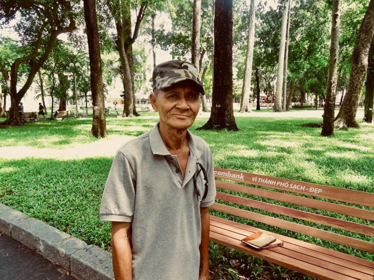 Vietnam war veteran Tao Dan Park Ho Chi Minh Vietnam