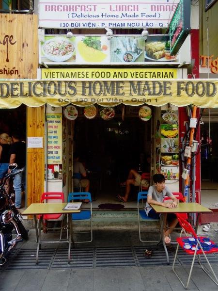 Vietnamese Restaurant Bui Vien Street Ho Chi Minh Vietnam