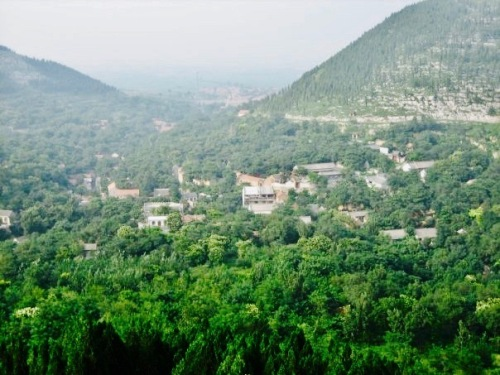 Views over Zhujiayu village from Kuixing Pavilion