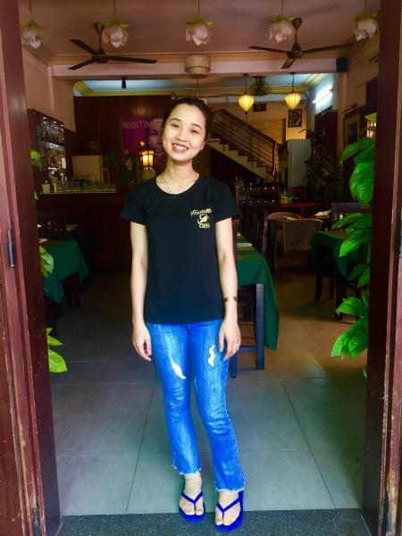 Waitress The White Lotus Restaurant Hoi An Vietnam