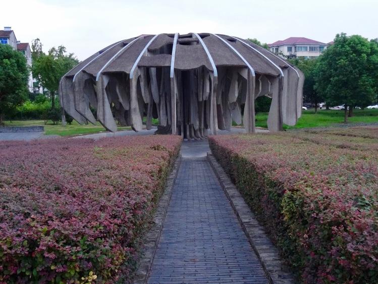 Ancient tree Jinhua Architecture Park Zhejiang province China