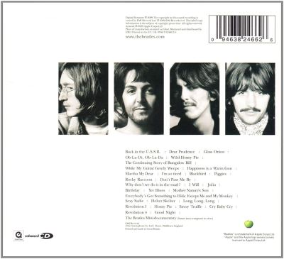 Back cover Beatles The White album review