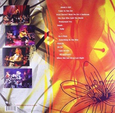 Back cover MTV Unpugged Nirvana album review