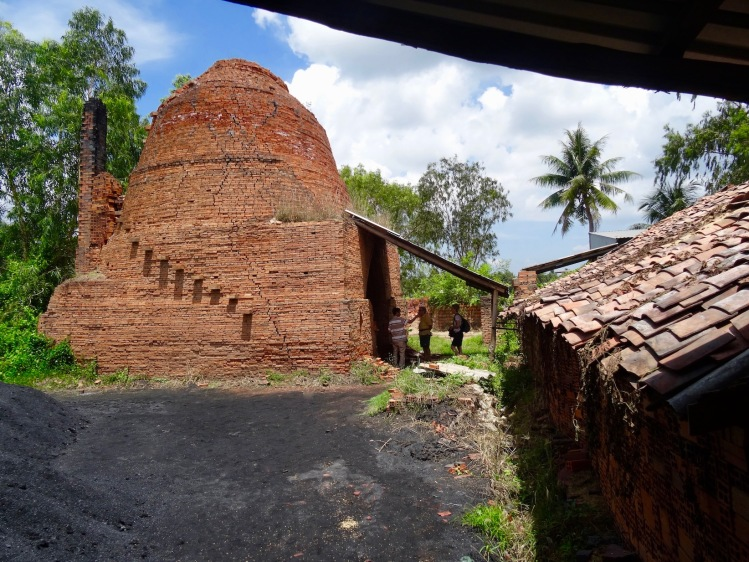 Brick kiln Nhon Thanh Brickmaking Village Mekong Delta