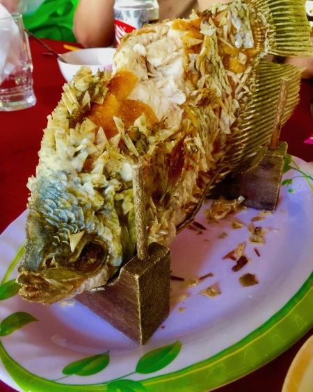 Fried fish Nhon Thanh Village The Mekong Delta